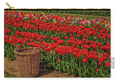 Carry-all Pouch featuring the photograph Basket For Tulips by Susan Candelario