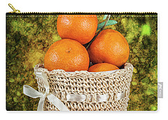 Basket Full Of Oranges Carry-all Pouch