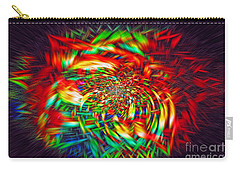 Carry-all Pouch featuring the photograph Basket Of Color by Geraldine DeBoer
