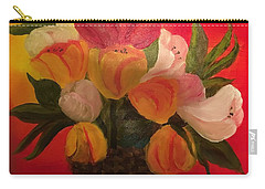 Basket Of Tulips Carry-all Pouch