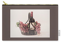 Basket Of Wine And Grapes Carry-all Pouch