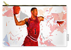 Carry-all Pouch featuring the painting Basketball 1 by Movie Poster Prints