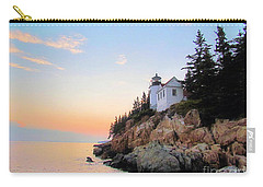 Bass Harbor Sunset II Carry-all Pouch by Elizabeth Dow