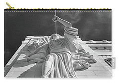 Carry-all Pouch featuring the photograph Bass Performance Hall Angel by Guy Whiteley