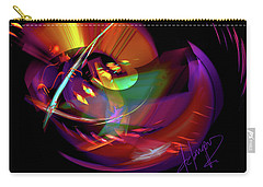 Carry-all Pouch featuring the painting International Bass Station by DC Langer