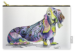 Basset Hound Horace Carry-all Pouch by Patricia Lintner