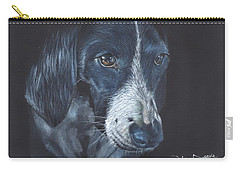 Carry-all Pouch featuring the painting Basset Hound by John Neeve