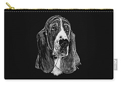 Basset Hound Carry-all Pouch by Rachel Hames