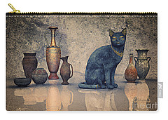 Bastet And Pottery Carry-all Pouch by Jutta Maria Pusl