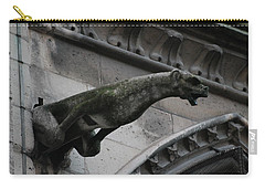 Bat Eared Dog Gargoyle Of Notre Dame Carry-all Pouch by Christopher Kirby