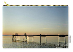 Carry-all Pouch featuring the photograph Bath Pier Silhouette by Kennerth and Birgitta Kullman