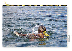 Carry-all Pouch featuring the photograph Bath Time by Glenn Gordon