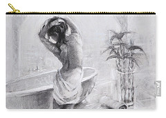 Carry-all Pouch featuring the painting Bathed In Light by Steve Henderson