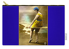 Bathing Beauty In Yellow  Bathing Suit Carry-all Pouch