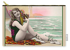 Bathing Beauty On The Shore Bathing Suit Carry-all Pouch