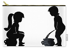 Bathroom Silhouettes Carry-all Pouch