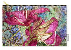 Batik Lilies Carry-all Pouch