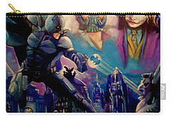 Carry-all Pouch featuring the painting Batman by Paul Weerasekera