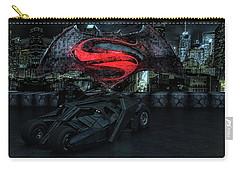 Batman Versus Superman Carry-all Pouch by Louis Ferreira