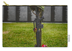Battle Field Cross At The Traveling Wall Carry-all Pouch by Paul Freidlund