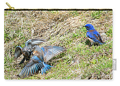 Battle For His Attention Carry-all Pouch by Mike Dawson