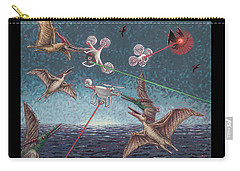 Battle Of Pterosaurs And Drones Carry-all Pouch