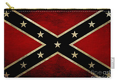 Battle Scarred Confederate Flag Carry-all Pouch by Randy Steele