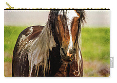 Battle Worn Stallion Carry-all Pouch by Mary Hone