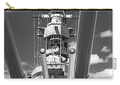 Carry-all Pouch featuring the photograph Battleship Missouri by Colleen Coccia
