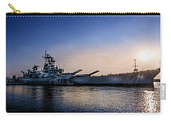 Carry-all Pouch featuring the photograph Battleship New Jersey by Marvin Spates