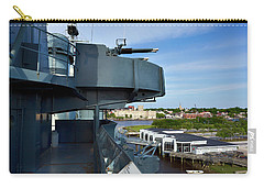 Battleship View Of Wilmington Nc Carry-all Pouch