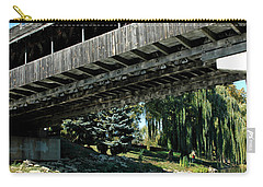 Carry-all Pouch featuring the photograph Bavarian Covered Bridge by LeeAnn McLaneGoetz McLaneGoetzStudioLLCcom