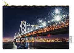 Bay Bridge And San Francisco By Night 5 Carry-all Pouch