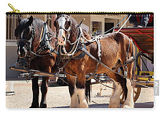 Bay Colored Clydesdale Horses Carry-all Pouch
