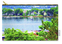 Carry-all Pouch featuring the painting Bay Harbor by Desiree Paquette