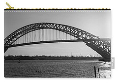Bayonne Bridge Panorama Bw Carry-all Pouch by Michael Ver Sprill