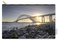 Bayonne Bridge Sunset Carry-all Pouch by Michael Ver Sprill