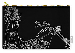 Carry-all Pouch featuring the drawing Bb Four by Mayhem Mediums