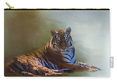 Be Calm In Your Heart - Tiger Art Carry-all Pouch by Jordan Blackstone