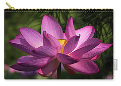 Carry-all Pouch featuring the photograph Be Like The Lotus by Cindy Lark Hartman