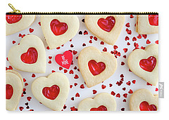 Carry-all Pouch featuring the photograph Be Mine Heart Cookies by Teri Virbickis