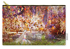Carry-all Pouch featuring the digital art Be Still And Know by Dolores Develde
