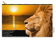 Carry-all Pouch featuring the photograph Be Strong And Courageous by Scott Carruthers
