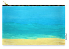 Beach Abstract Carry-all Pouch by D Hackett