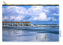 Beach At Isle Of Palms Carry-all Pouch by Dominic Piperata