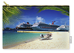 Beach At Nassau Harbor Carry-all Pouch