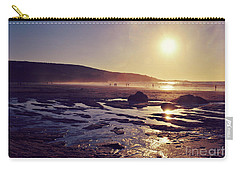 Carry-all Pouch featuring the photograph Beach At Sunset by Lyn Randle