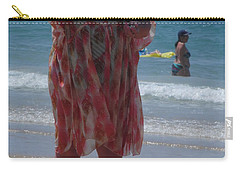 Carry-all Pouch featuring the painting Beach Beauty by Esther Newman-Cohen