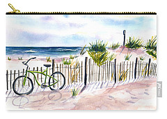 Beach Bike At Seaside Carry-all Pouch