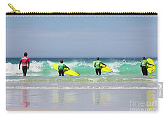 Carry-all Pouch featuring the photograph Beach Boys Go Surfing by Terri Waters